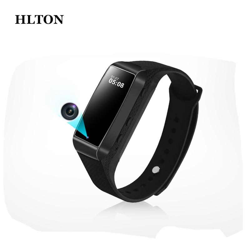 HLTON Fashioh Portable Digital Audio Video Recorder Full HD 1080P Camcorder Photograph Smart Bracelet Smartband Support