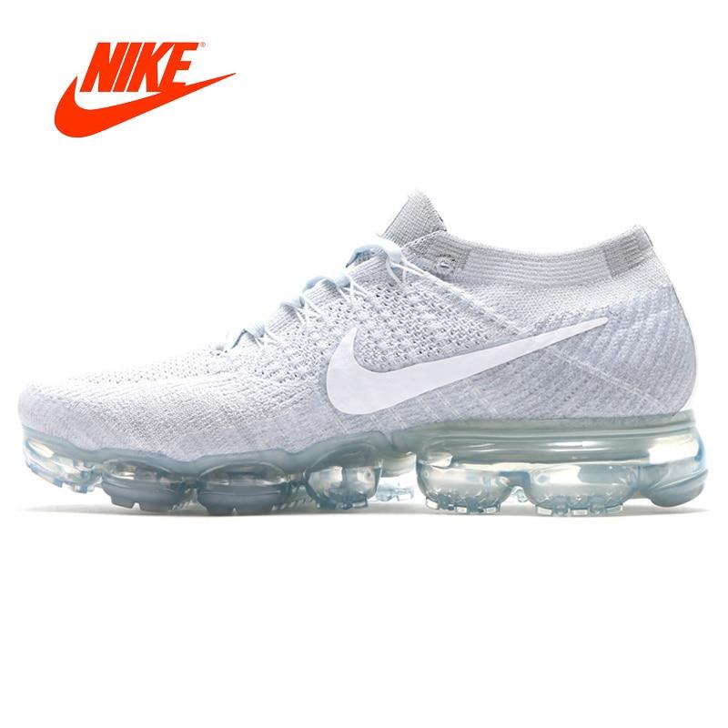 D'origine Nike Air VaporMax Flyknit Hommes Chaussures de Course Respirant Espadrilles Confortables Sport En Plein Air Sneakers Rembourrage