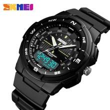 SKMEI Men Sports Watches Fashion Quartz Clock Mens Watch Top Brand Luxury PU Business Waterproof Watch Relogio Masculino 1454 все цены