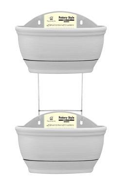 0007 двойное керамическое стильное Настенное подвесное кашпо горшок домашний Декор украшение сада автоматическое полив гидропоники горшки для растений - Цвет: beige