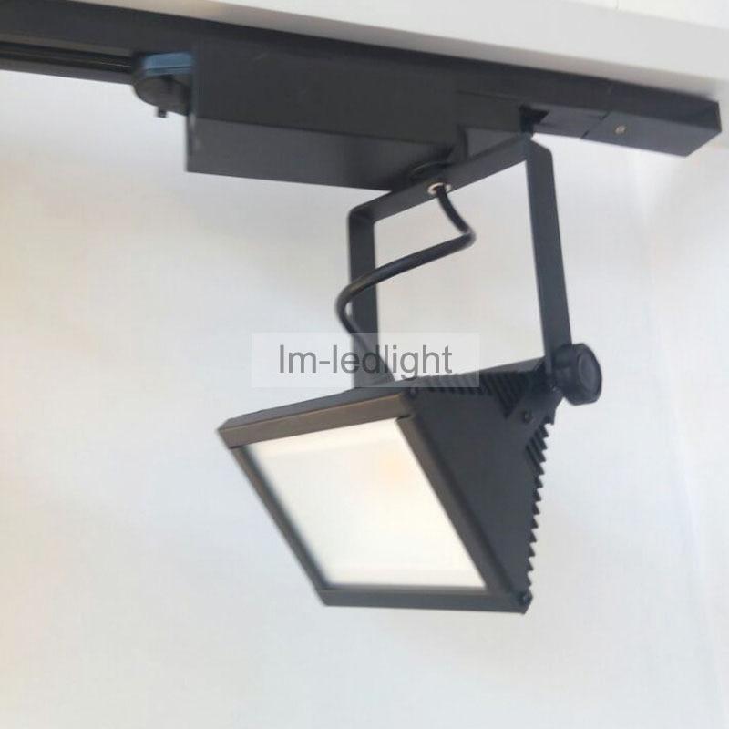 Square LED Track light 20W - White black track head 85-265V warm/day /cold white track led light modern Free ship 10pcs