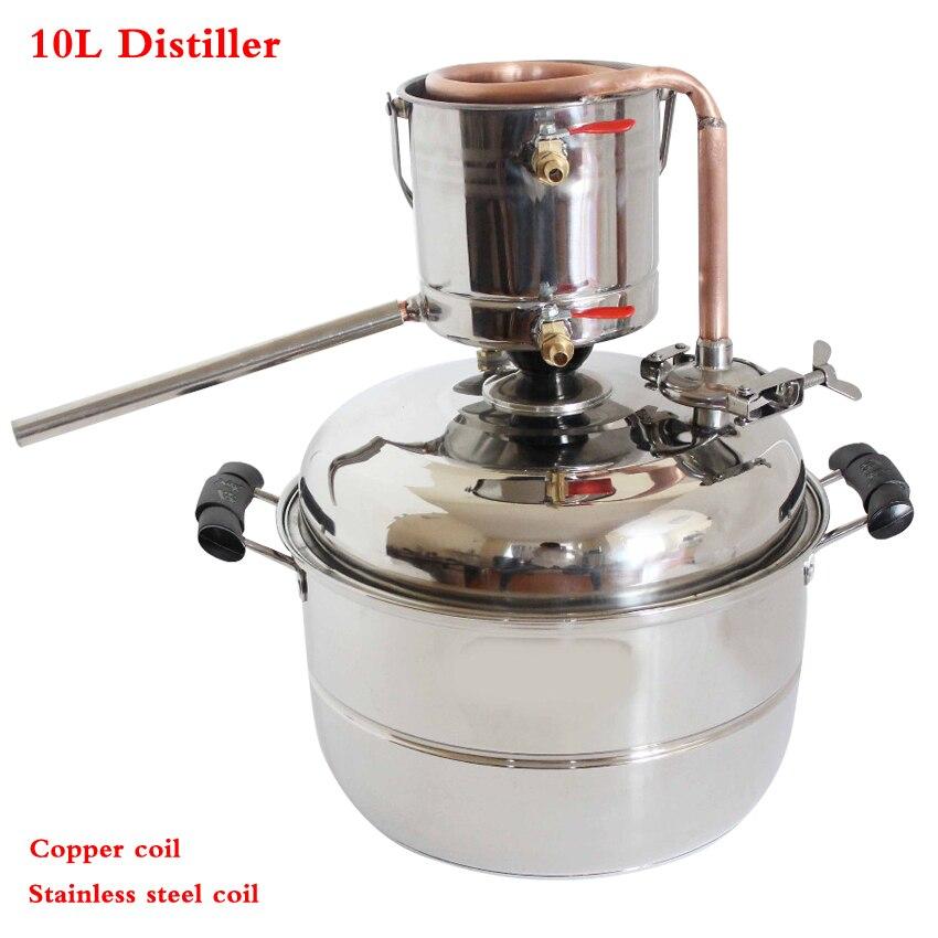 DIY Household 3 gas/10 L Alcohol Beer Wine Whisky Distiller Moonshine Ethanol Copper Still Stainless Boiler & Thumper Keg