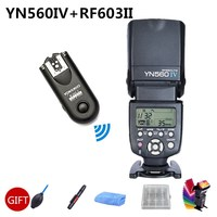 Yongnuo YN560IV 2.4G Master Radio Wireless Flash Speedlite + RF 603II Trigger for Canon Nikon D300 D200 D100 D90 D80 Camera