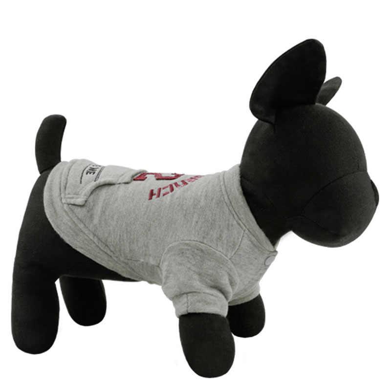 № 52 хлопковый свитер для собак теплая осенне-зимняя куртка для питомца в английском стиле Одежда для домашних животных для маленьких собак
