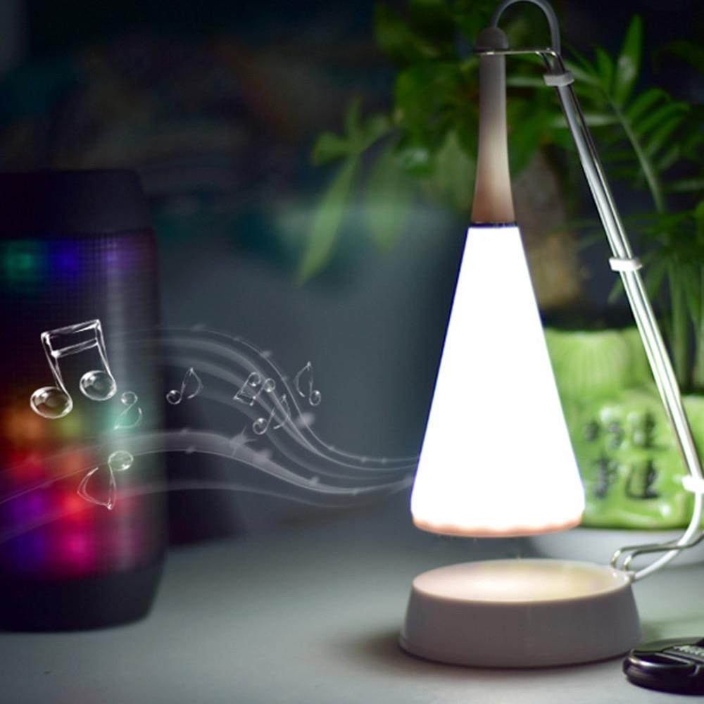 Wireless Bluetooth Speaker Desk Lamp USB Touch 5V LED Table Night Light Smart Music Stereo Speaker Table Desk Lamp yiyang usb rechargeable multicolor shell led music night light bedroom atmosphere desk lamp wireless bluetooth player speaker