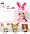 Free shipping Cute doll hat suitable ICY DOLL JECCI FIVE 1/6 DOLL, only for 1/6 doll, 30cm