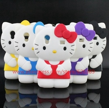 For Samsung Galaxy Ace S5830 Case Cute Hello Kitty Silicone Phone Cases Cover For Samsung Ace 5830(China)