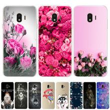 Flower Painted Soft Silicone TPU Cases For Coque Samsung Galaxy A3 A5 2017 A8 A6 J3 J5 J7 2016 J4 J6 2018 Phone Cover case Funda(China)