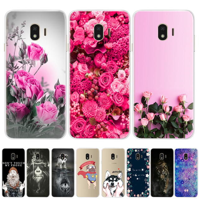 Flower Painted Soft Silicone TPU Cases For Coque Samsung Galaxy A3 A5 2017 A8 A6 J3 J5 J7 2016 J4 J6 2018 Phone Cover case Funda