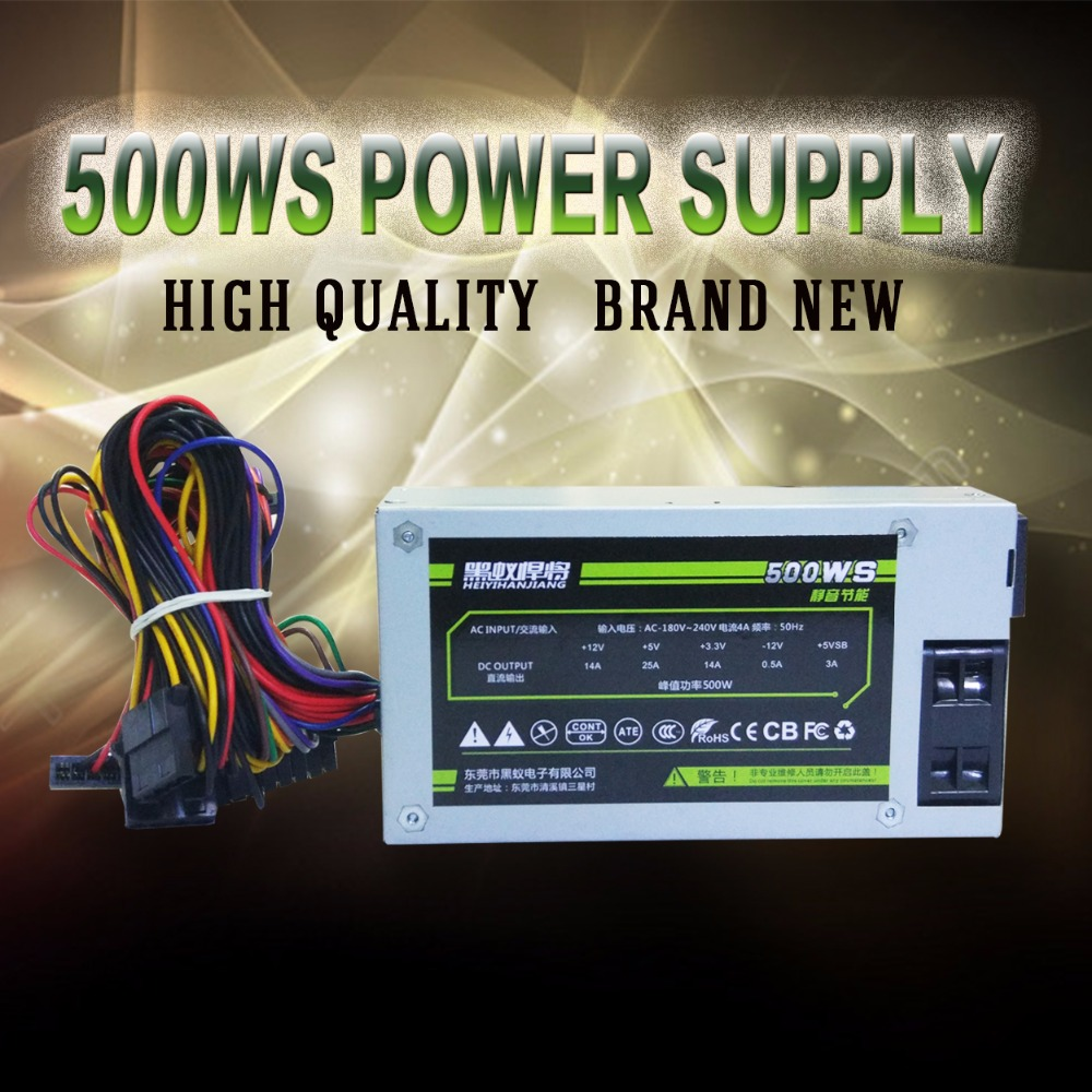 New and original desktop Power 500WS PC Power Supply well tested working free shipping