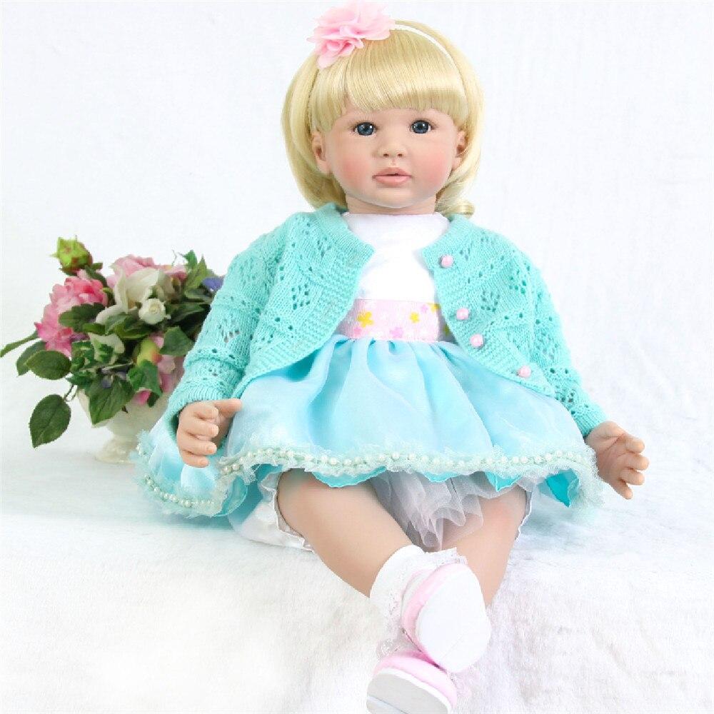24/'/' Handmade Reborn Toddler Girl Doll Soft Vinyl Lifelike Princess Baby Dolls