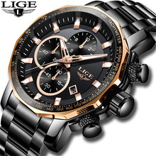 LIGE Mens Watches Top Brand Luxury Water
