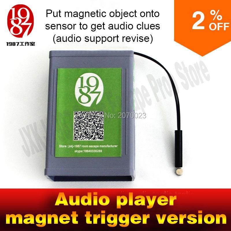 imágenes para Accesorios de juego para escapar de la habitación un imán poner magia prop objeto magnético sobre el sensor para obtener pistas de audio para crear atmoshpere