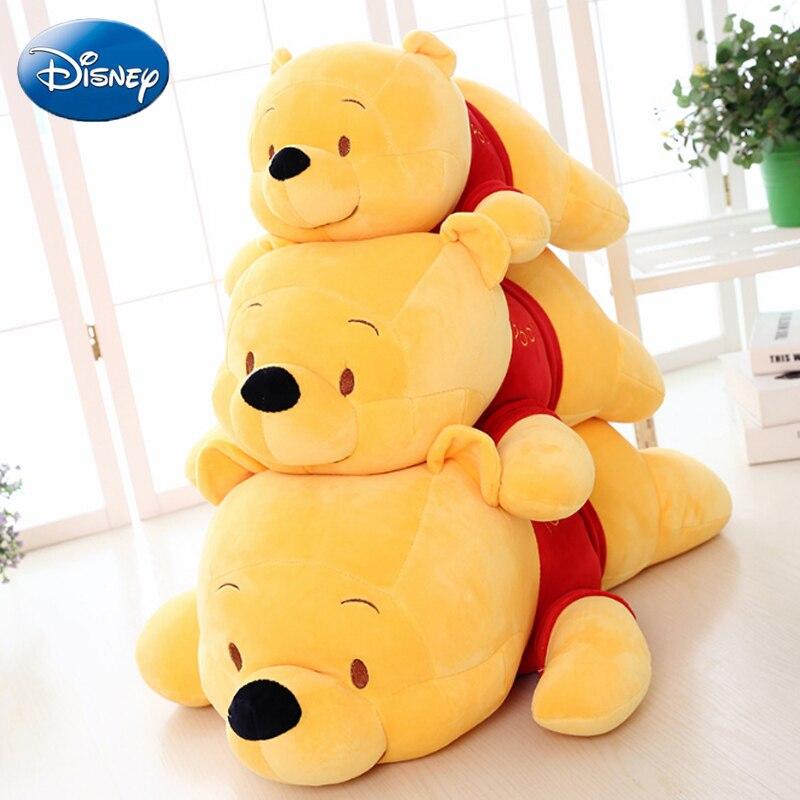 Disney 45/55/65cm Winnie the Pooh Plush Stuffed Real Life Lovely Toy Kids Soft Pillow Comfort Cusion Boy Girl Baby Birthday Gift цена