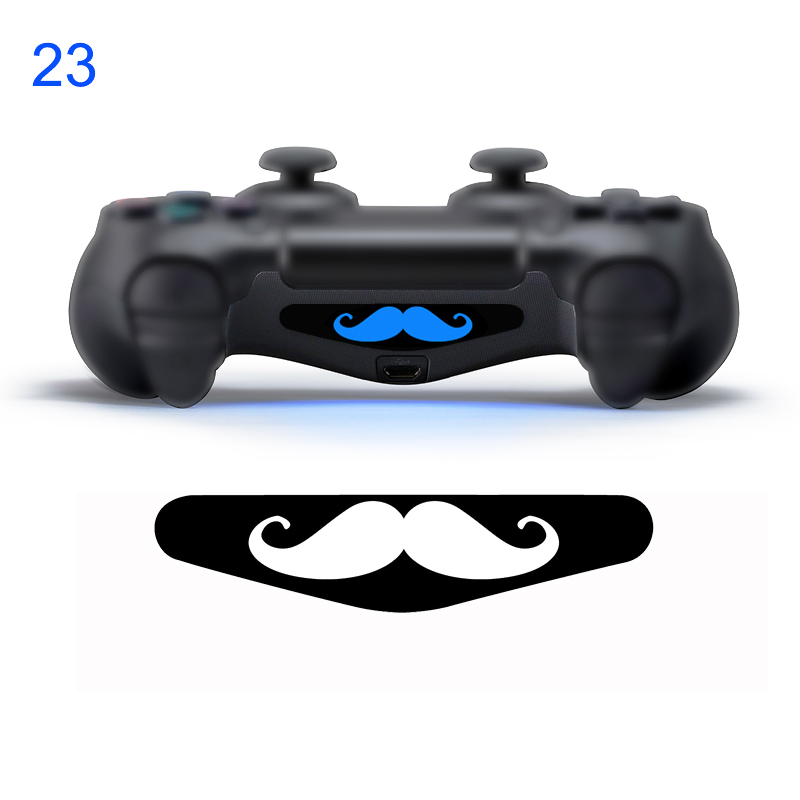2 pezzi # 23 baffi in PVC Decal Skin Custom per PlayStation 4 LED Light Bar Decal Sticker per PS4 Dualshock Controller