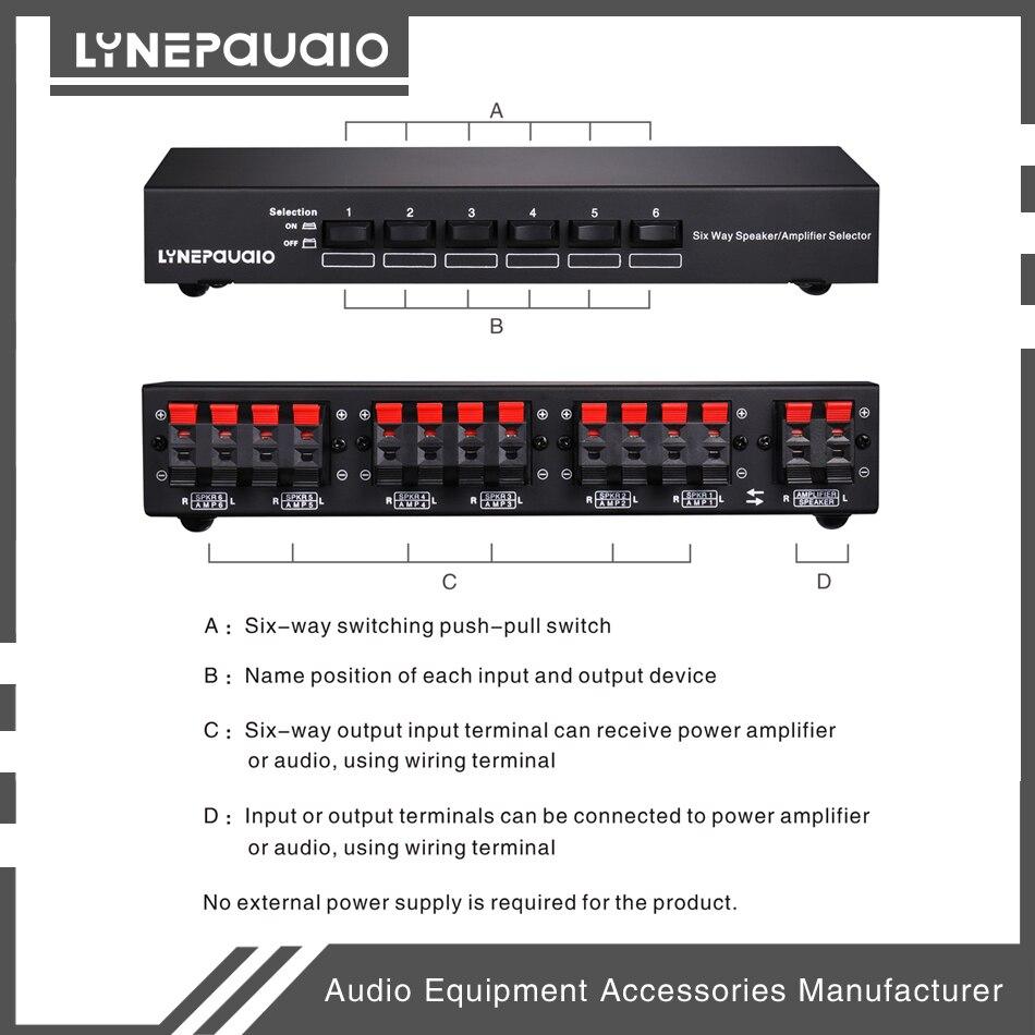 6-Way Stereo Loudspeaker / Amplifier Comparator Bidirectional Selective Switcher