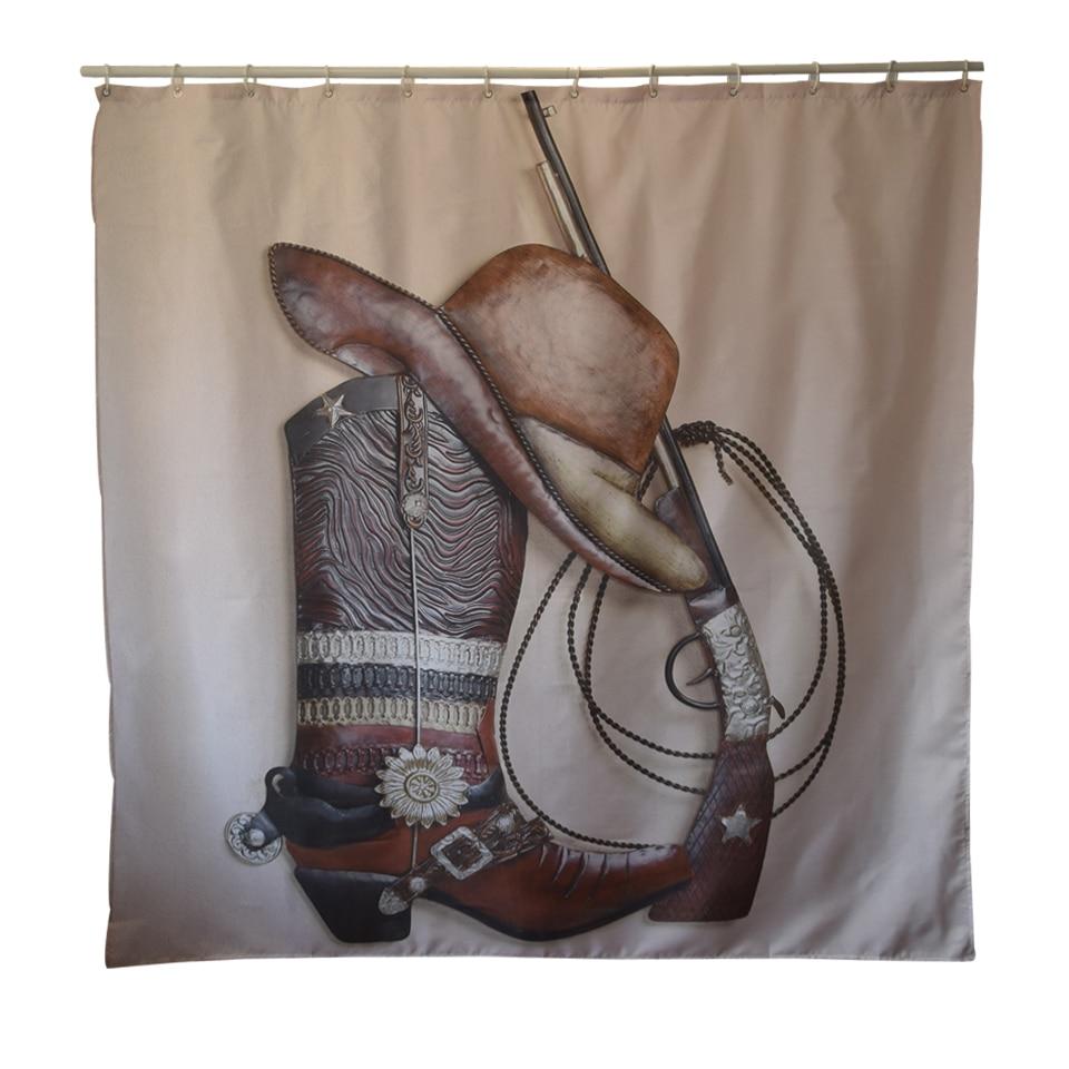 Papau0026Mima Western Cowboy Waterproof Shower Curtains Polyester Bathroom  Curtains With Hooks 150x180/180x180cm Decorative