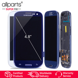 i9300i i9300 Display For SAMSUNG Galaxy S3 Display Screen with Frame Replacement For SAMSUNG Galaxy S3 LCD i9301 i9308i i9301i