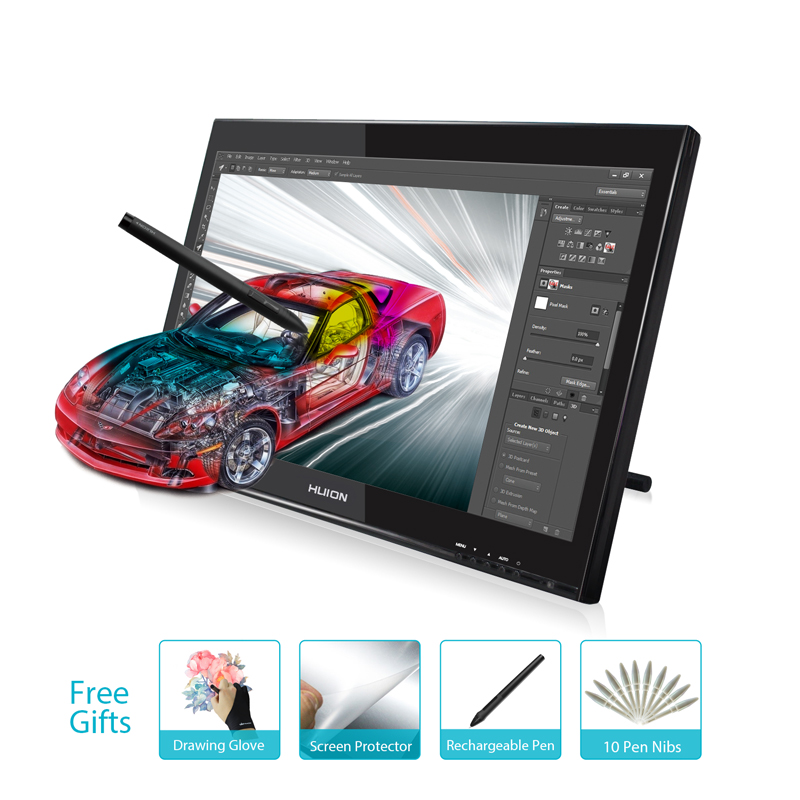 HUION 19-pulgadas GT-190 tableta Digital lápiz tableta Monitor arte gráficos dibujo lápiz pantalla tableta Monitor regalos de tiempo limitado