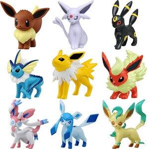 Image 2 - TAKARA TOMY figuras de Anime, eeveee, Glaceon, Vaporeon, Jolteon, Flareon, Leafeon, figuras de anime, figuras de acción de juguete, regalo para niños