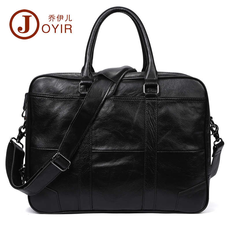 JOYIR Genuine Leather Men Bag Business Men Briefcase Leather 15.6