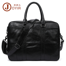 JOYIR Genuine Leather Men Bag Business Briefcase 15.6 Laptop Male Casual Tote Crossbody Cow Handbag