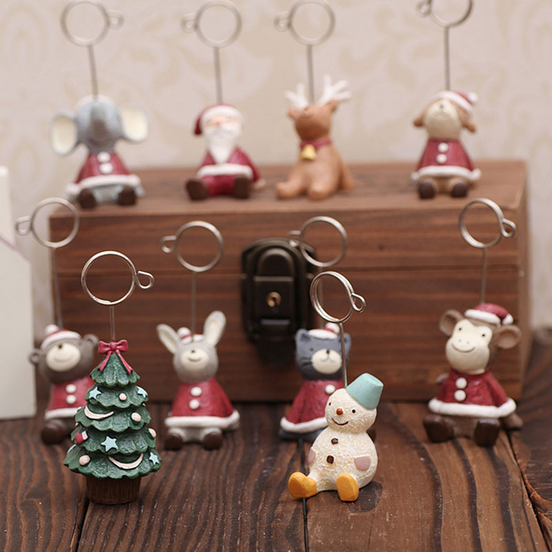 Christmas Resin Figurines Home Decorations Name Card