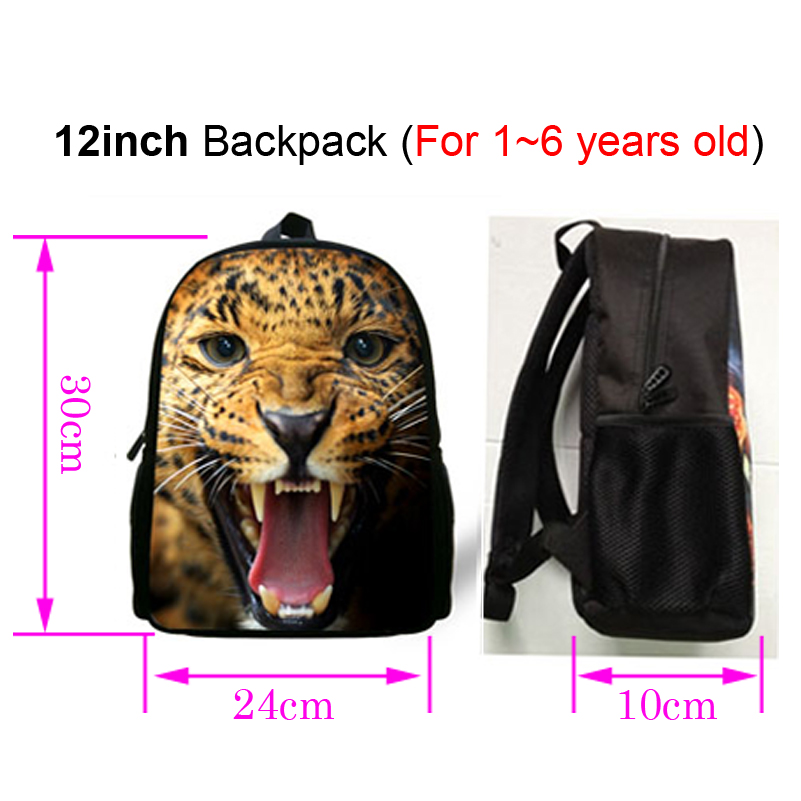 fd7eb5135ff3 12 Inch Cool Kids Print Backpacks Lion Head Pattern Backpack For Children  Boys Girls Preschool Backpack For Baby Kindergarten-in School Bags from  Luggage ...