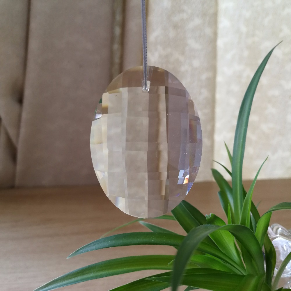 76 мм 40 единиц сияющий кристалл Prism капля часть для рождественской елки Украшение Висит Украшения для гирлянды нити