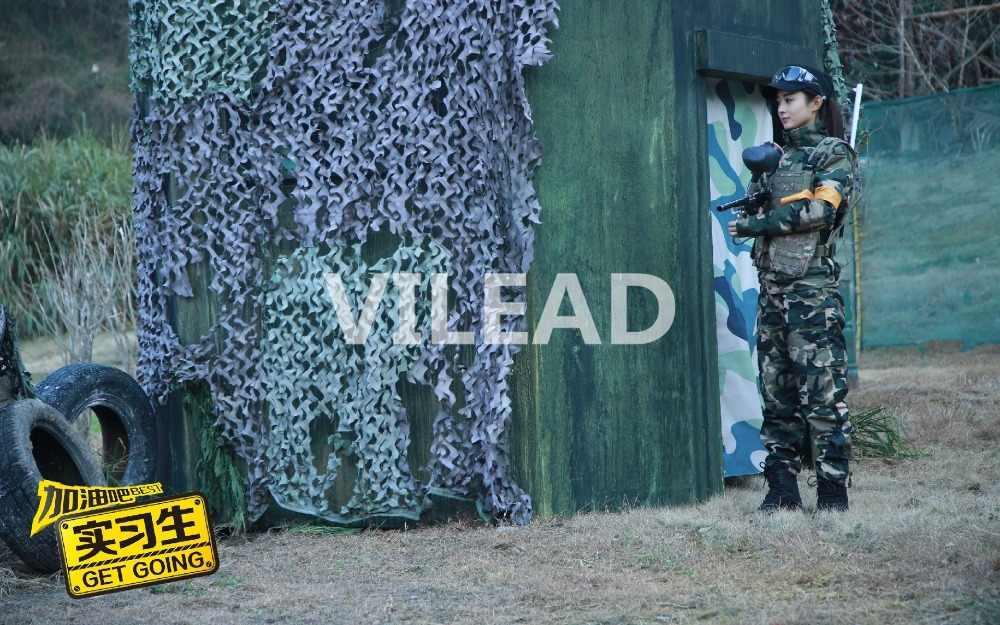 VILEAD 5x5M Filé Verde Militar Rede de Camuflagem Camo Rede Lona de Acampamento Do Exército Sol Abrigo Para O Jogo de Paintball sombra jardim