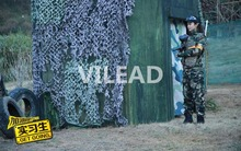 цена на 5M*5M military camouflage netting filet green camo netting army tarp camping sun shelter for paintball game garden shade hunting
