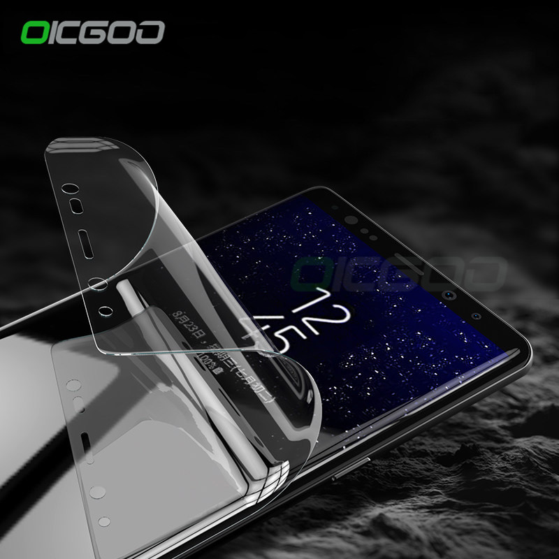 Galleria fotografica OICGOO 3D Full Cover Soft Screen Protector For Samsung Galaxy S7 S6 Edge Protective Film For Samsung S8 Plus Note 8 (Not Glass)