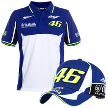 18aae88e3ee4 2018 MotoGP Racing Polo Shirt for Yamaha Team Mens Motobike Blue T-shirt  and Cap