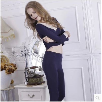 Beauty care thermal underwear female long johns long johns set body shaping autumn and winter slim basic underwear thin seamless
