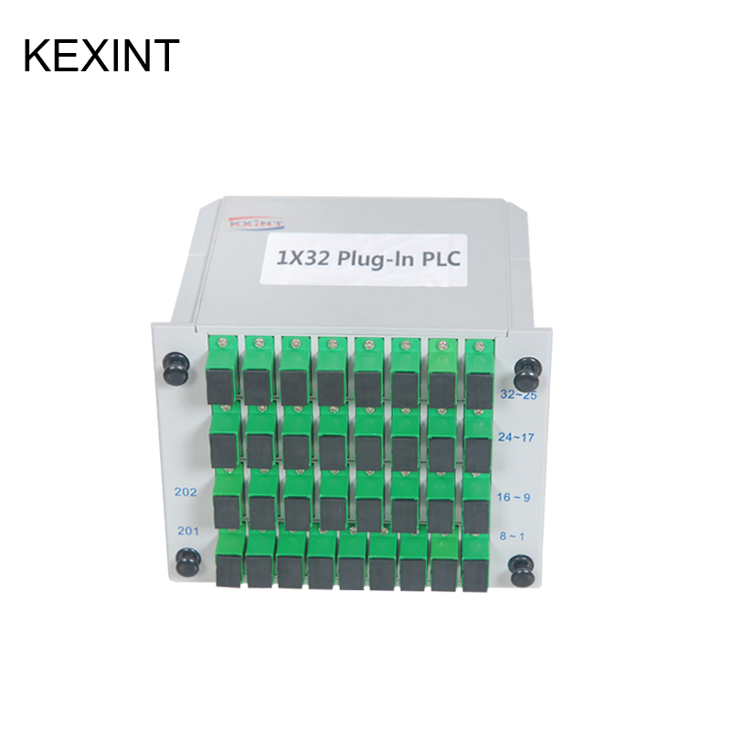 KEXINT Factory Directly PLC Splitter SC/UPC 1*32 Insertion /LGX /Cassette type Fiber Optic / 5piece