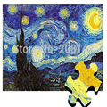 Puzzles Van Gogh Starry Night Jigsaw Paper Puzzle With Drawing Guideline and Glue Great Educational Toy for Children Gift