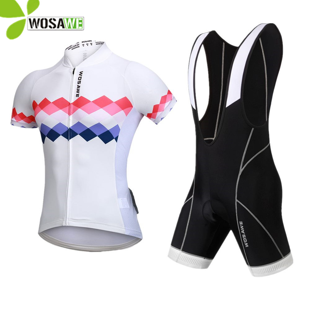 WOSAWE shorts cycling clothing ropa ciclismo jersey 2018 pro team women bib short suit quick dry bike clothes cycling jersey set
