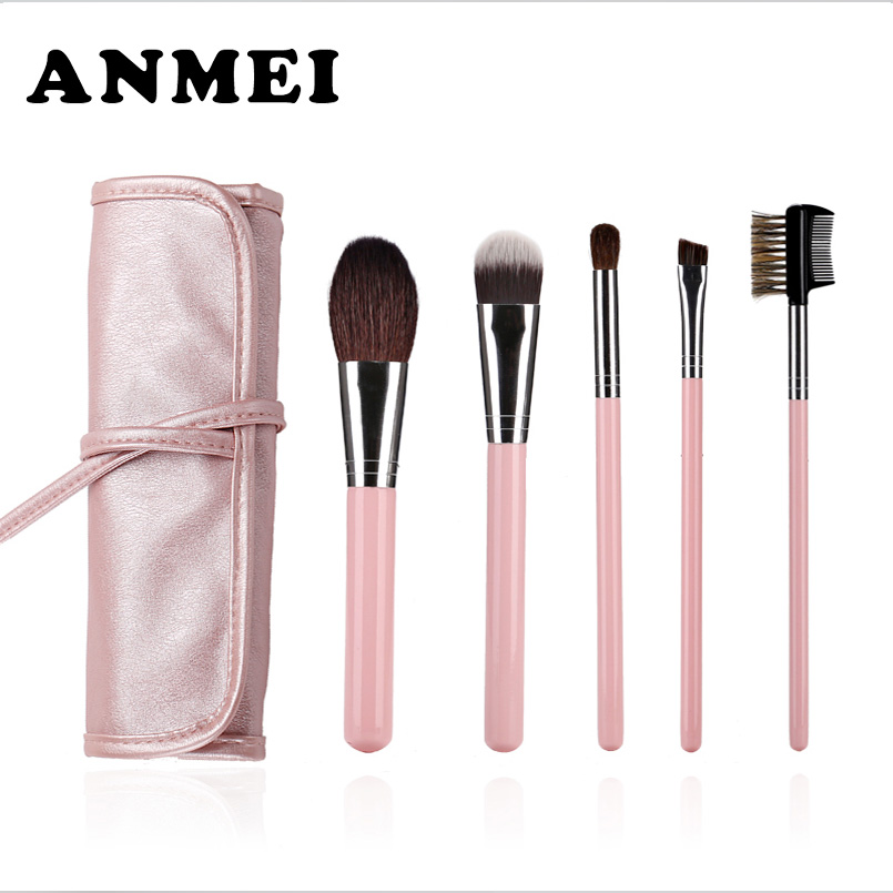 5pcs/kits Makeup Brushes Pro Set cute Pink Cosmetics Brand Makeup Brush Tools Foundation Brush For Face Make Up Beauty eia uus kahe näoga jumal