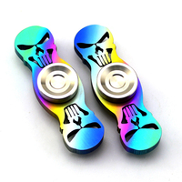 Titanium Skull Head Handspinner Rainbow Colorful Limited Edition Fingertips EDC Hand Spinner Torque Gyro Fidget Spinner
