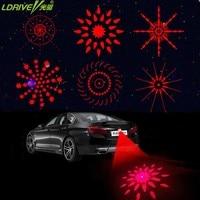 2017 New 6 Patterns Motorcycles Car Laser Fog Light Brake Parking Red Warning Anti Collision Light