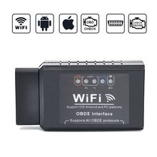 V1.5 ELM327 Car WIFI OBD 2 OBD2 OBDII Scan Tool Foseal Scanner Adapter Check Engine Light Diagnostic Tool forios Android Windows launch obd2 obdii creader 619 creader 6011 diagnostic scan tool support abs srs systems obd 2 scanner diagnostic tool cr 619