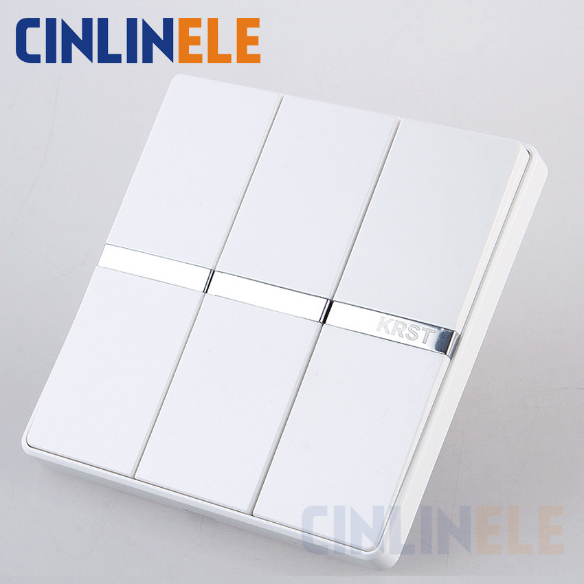 1Pcs Luxury Wall Switch, 3 Gang 1 Way, Ivory White, Brief Art Weave, Light Switch, AC 110~250V  10A No border design 86mm*86mm the ivory white european super suction wall mounted gate unique smoke door