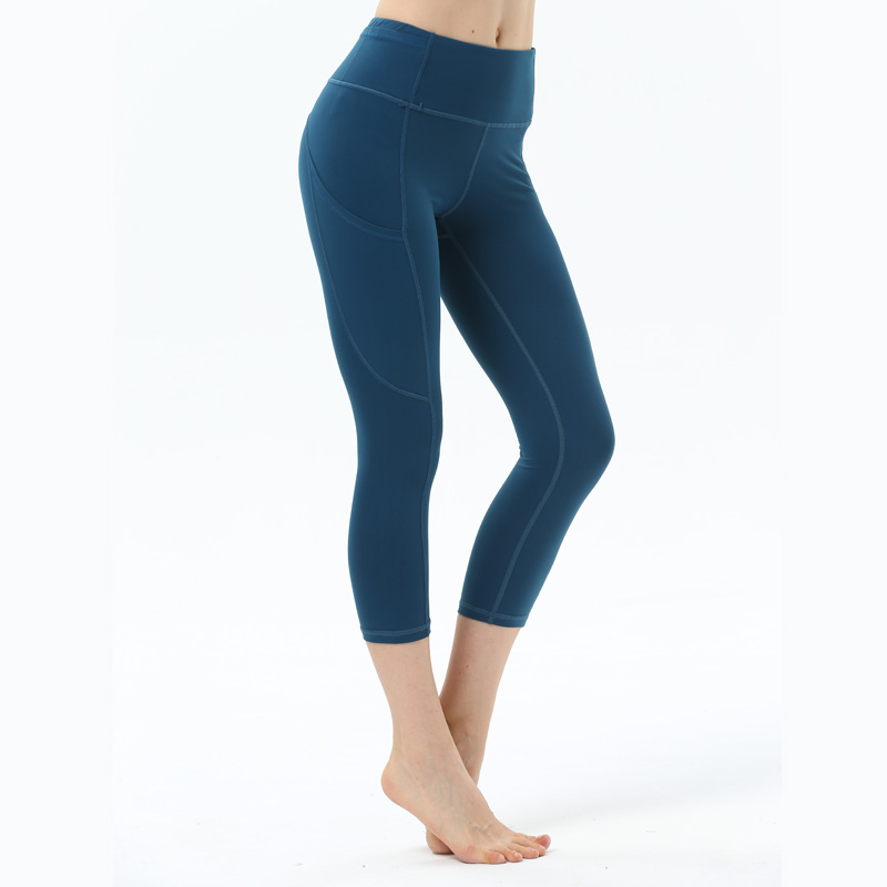 Women Zipper Pocket Yoga Pants Push Up Sport Leggings Fitness Capris leggings Sports Women Compression pants