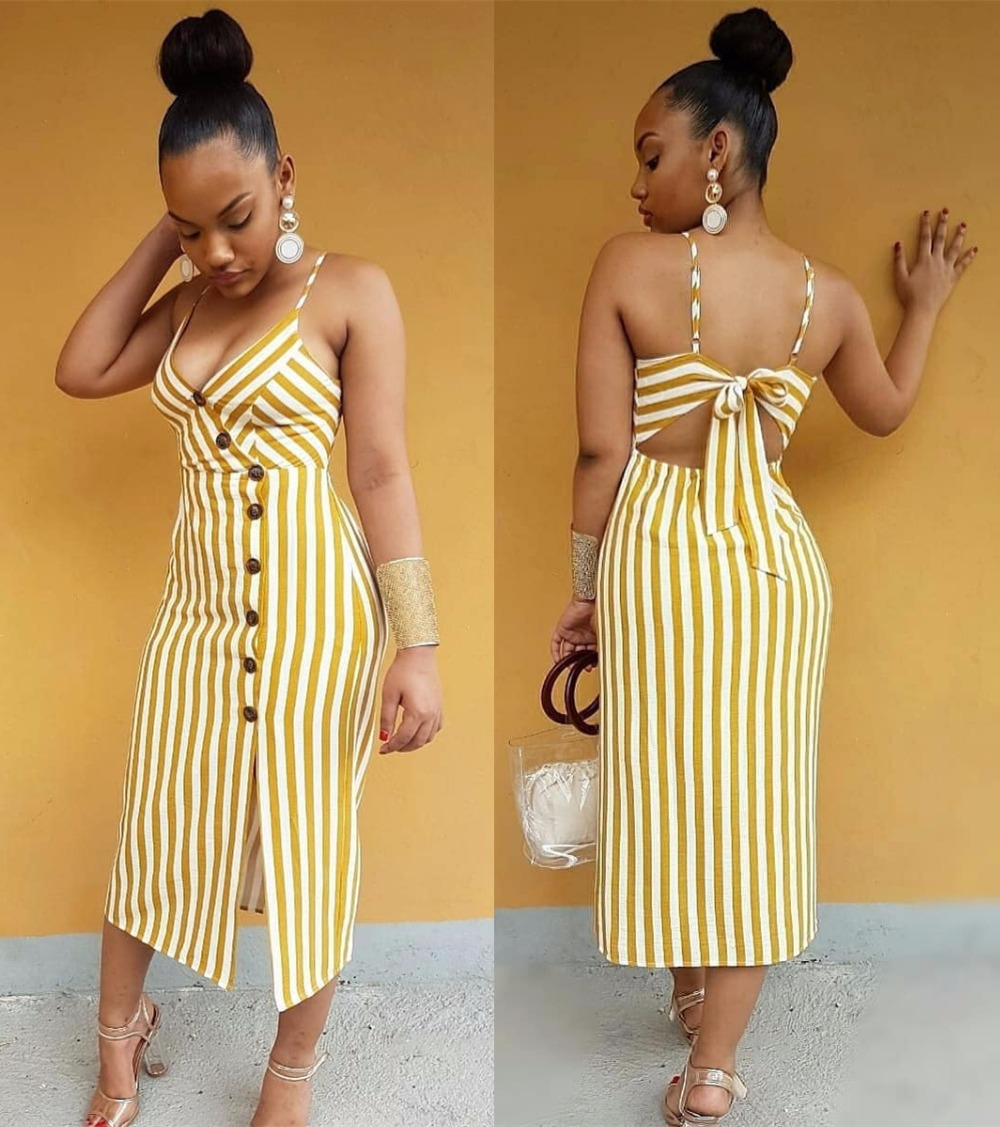 Women's Clothing 100% True Stripe Cropped Long Jumpsuit Vertical Striped Jumpsuit Women Strap Sexy Suspenders Vertical Sleeveless Backless Fashion #y Easy To Lubricate