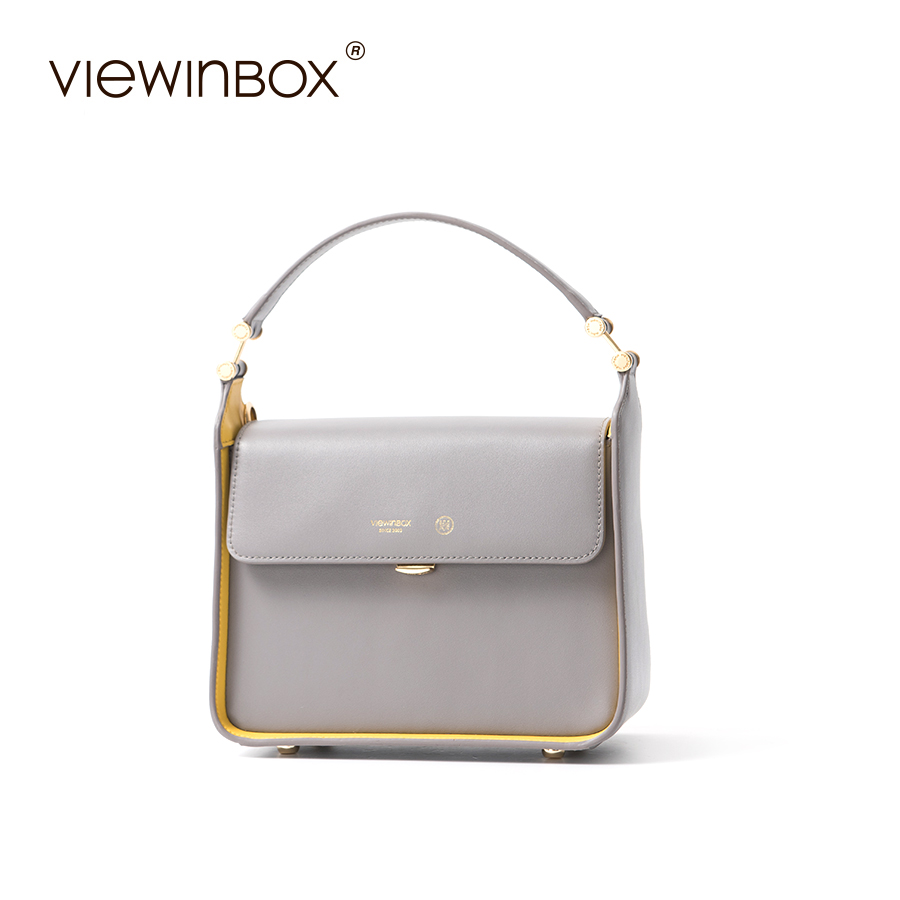 Viewinbox Original Women Shoulder Bags Women Split Leather Messenger Bag Fashion Solid Cusual Lady Handbag new split leather snake skin pattern women trunker handbag high chic lady fashion modern shoulder bags madam seeks boutiquem2057