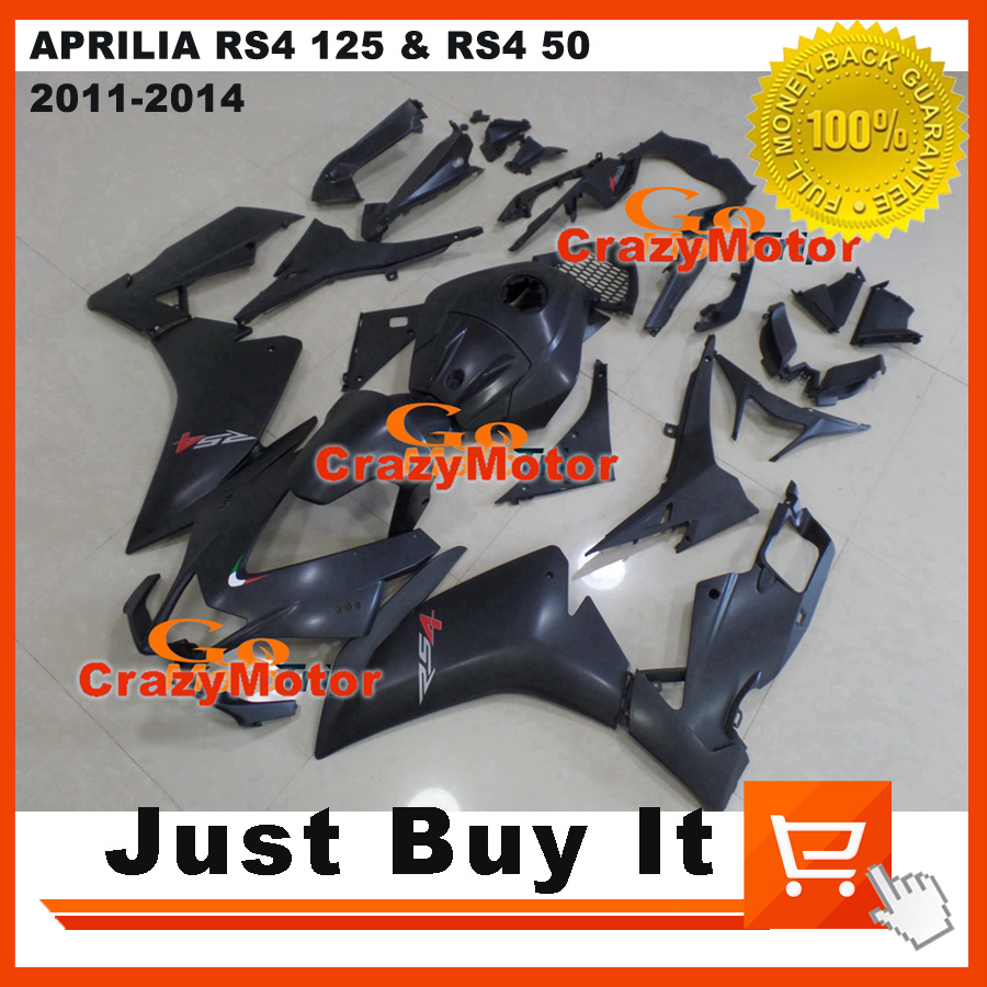 Fit For APRILIA RS4 125 & RS4 50 11-14 2011 2012 2013 2014 Black OEM RACING Motorcycle FAIRING KIT ABS Injection Mold Cowling