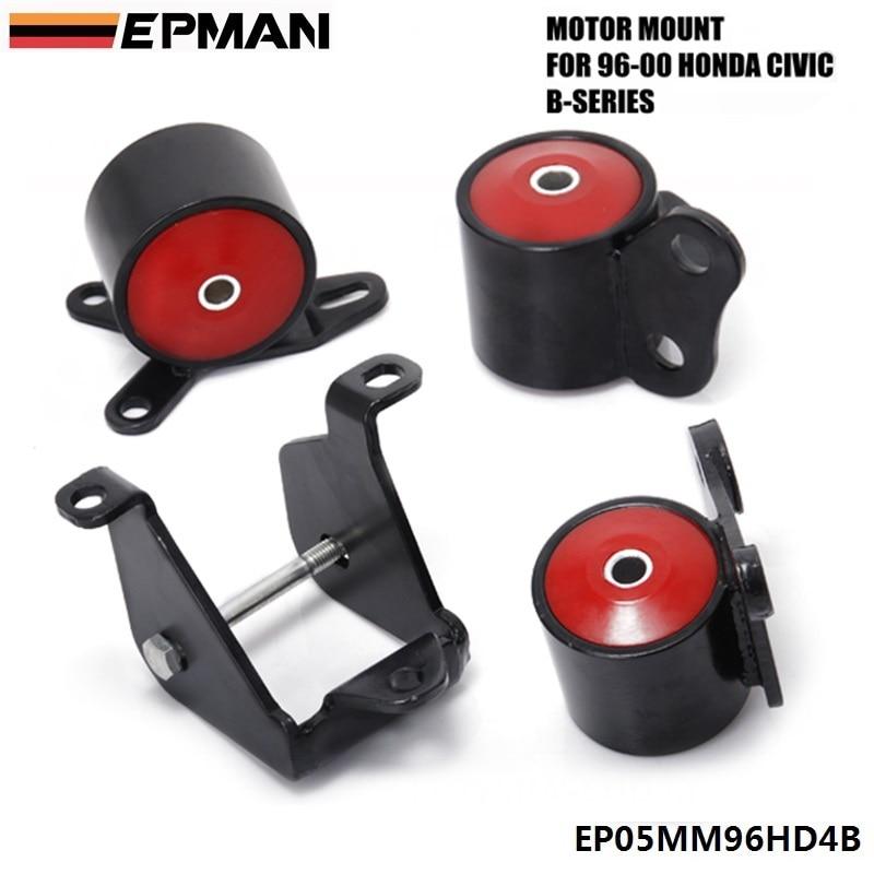 Pour 96-00 HONDA CIVIC EK SI DX LX EX support moteur solide B16 B18 B-SERIES échange moteur (plus d'un véhicule) EPMAN EP05MM96HD4B