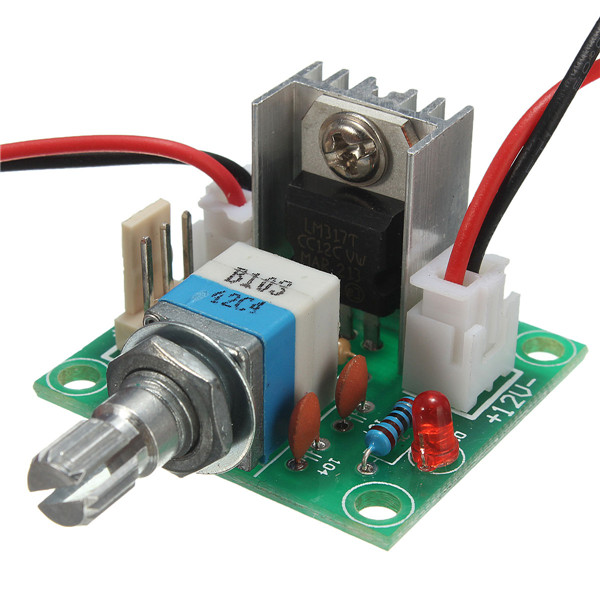 High Quality 10pcs/lot LM317 Linear Full-stage Voltage Regulator Board Fan Speed control /w Switch Durable Tool Tools