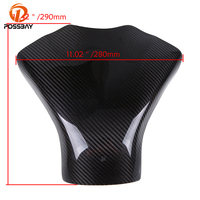 POSSBAY Fuel Gas Tank Cover Carbon Fiber For Suzuki GSXR 600 750 2008 2009 2010 K8 Motorcycle Protector Pad For Cafe Racer