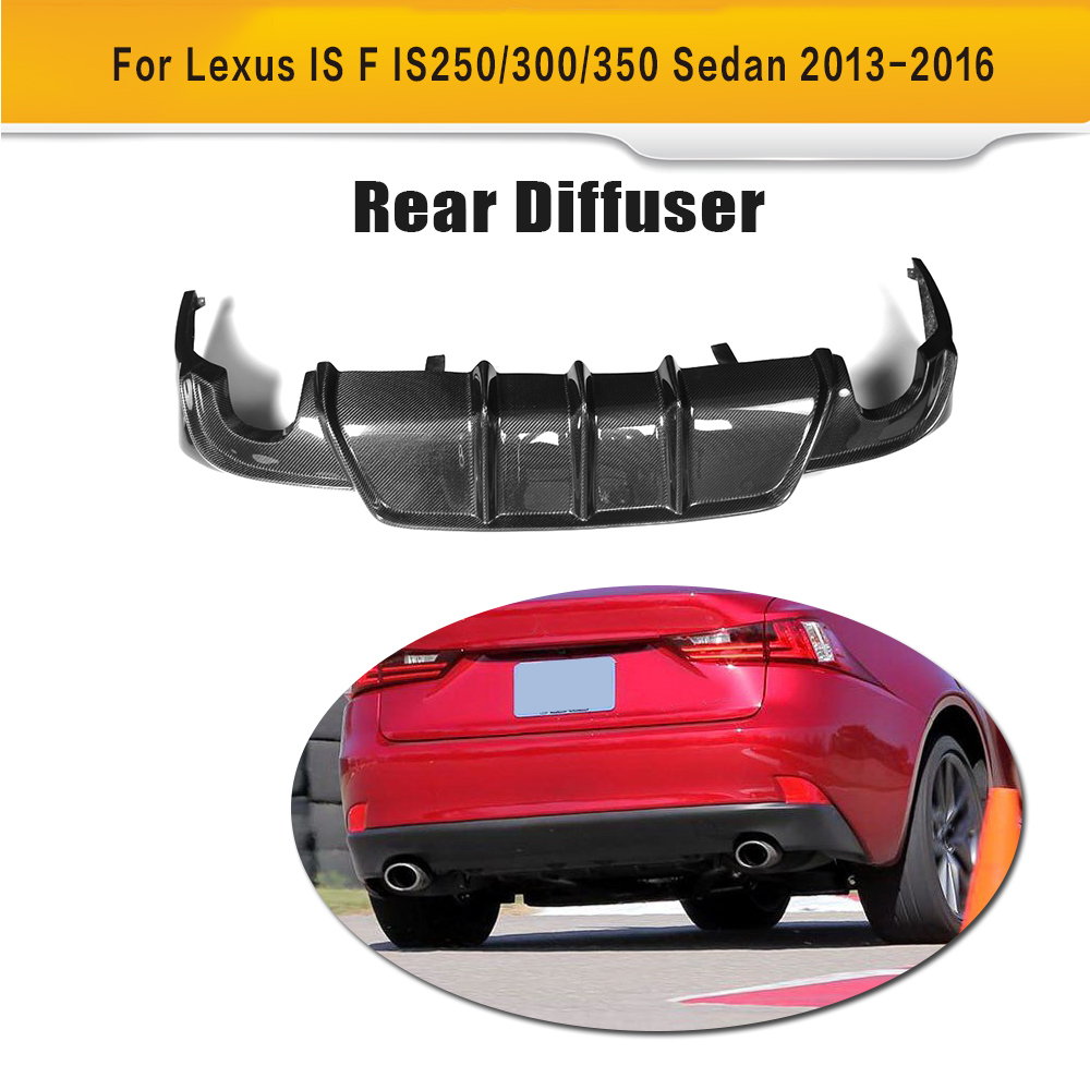 Carbon Fiber Rear Bumper Exhaust Diffuser Lip Spoiler for Lexus IS ISF Sedan 4 Door IS200T IS250 IS300 IS350 13-16 car styling rear bumper led brake lights warning lights case for lexus is250 is300 is350 accessories good quality